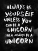 be yourself x