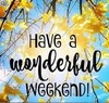 Have a Wonderful Weekend !