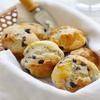 a basket of breakfast scones