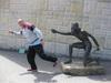 HELP me escape Aborigine statue!