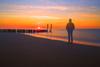 Serene walk on the beach